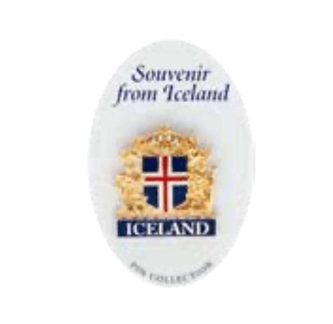 Iceland symbol pin