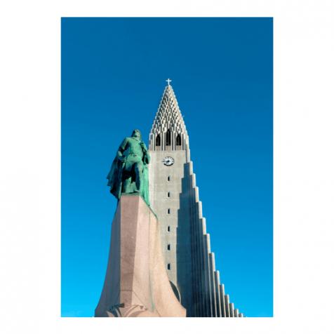 Hallgrímskirkja Leifur Eiríksson postcard