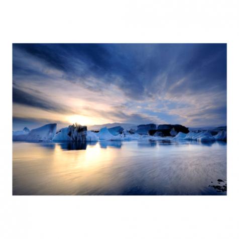 Jökulsárlón sunset postcard