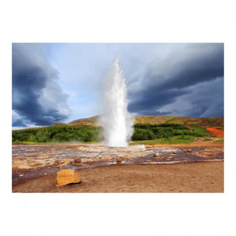 Geysir postcard