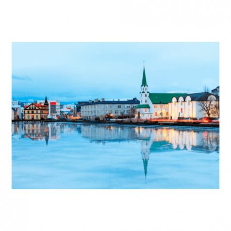Reykjavík Pond postcard