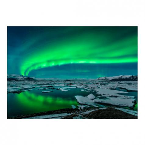 Jökulsárlón northern lights postcard