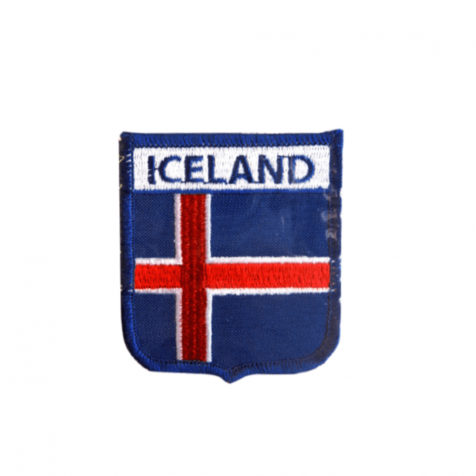 Clothing patch with Iceland and Icelandic flag