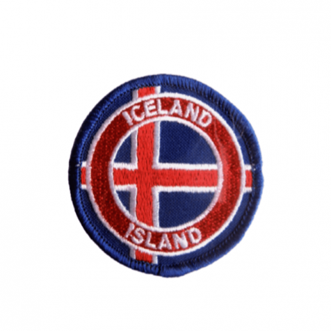 Clothing patch Icelandic flag round
