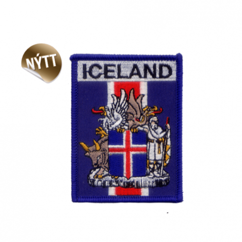 Clothing patch Icelandic coat of arms