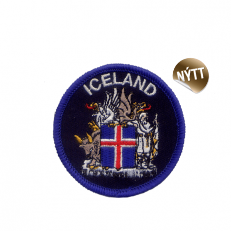 Clothing patch Icelandic coat of arms round