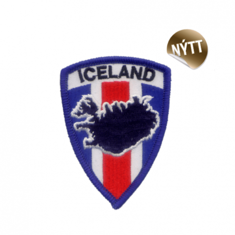 Shield clothing patch map of Iceland