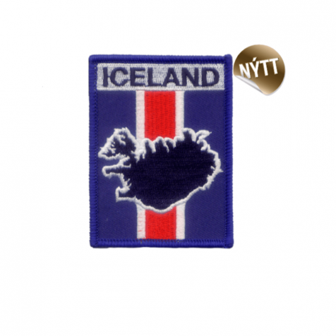 Clothing patch Icelandic flag square