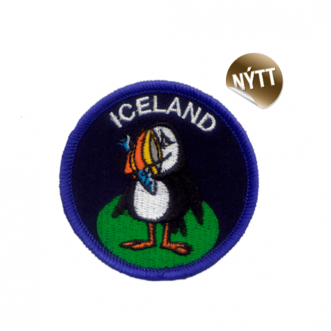 Clothing patch puffin