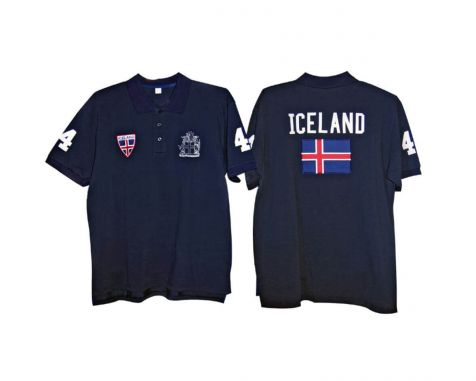 Polo shirt with Iceland blazon and flag