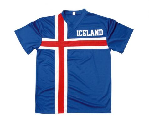 Jersey with Icelandic flag