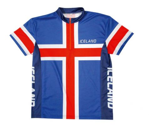 Iceland jersey with flag colors
