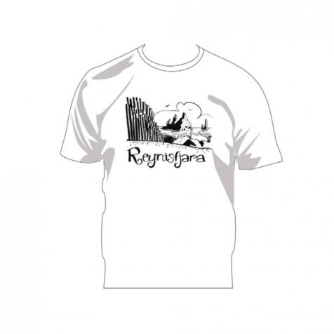 Reynisfjara outline sketch t-shirt