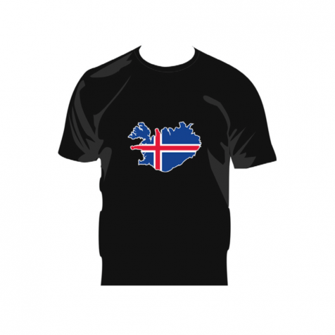 Iceland map with flag t-shirt
