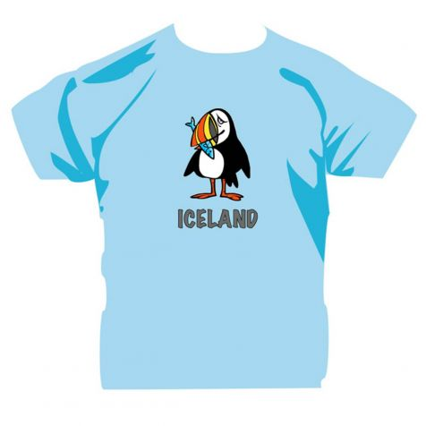 Kids' t-shirt with Icelandic puffin