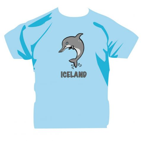 Kids' t-shirt with dolphin