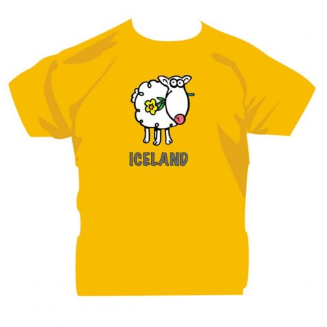 Kids' t-shirt with Icelandic sheep