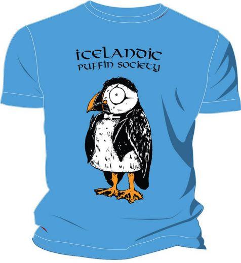 Kids' t-shirt Icelandic puffin society