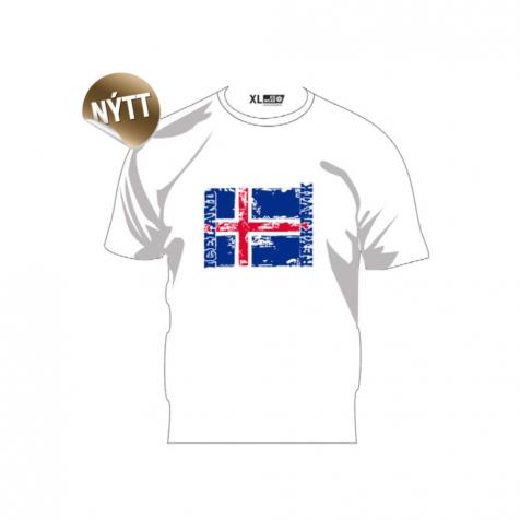 T-shirt with Icelandic flag Reykjavik