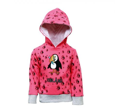 Children´s hoodie with puffin