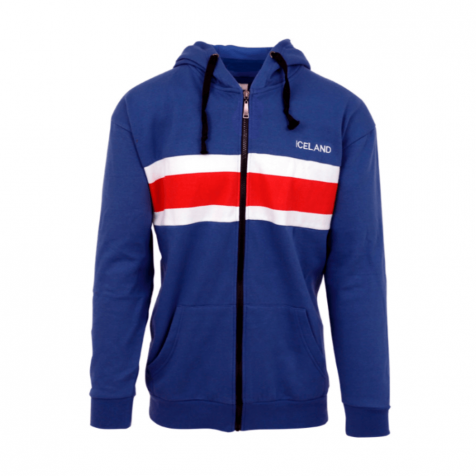Icelandic flag hoodie with zipper