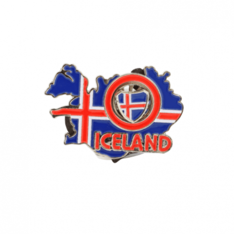 Iceland map magnet with spinning middle