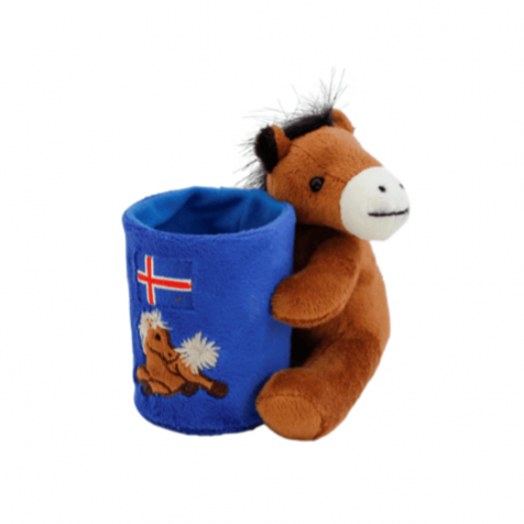 Icelandic flag horse pencil holder