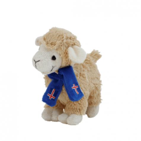 Lamb with scarf stuffed animal