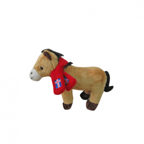 Musical horse with scarf stuffed animal
