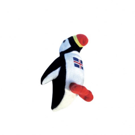 Puffin with Icelandic flag magnet