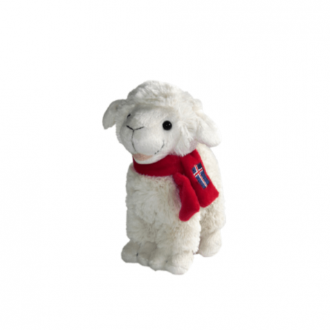 Lamb with scarf stuffed toy