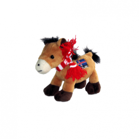 Horse with scarf stuffed animal