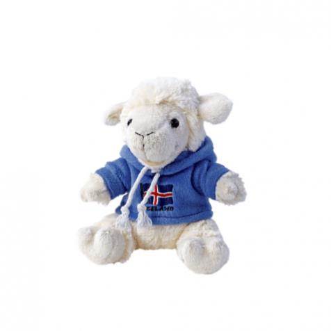 Lamb in a hoodie stuffed animal