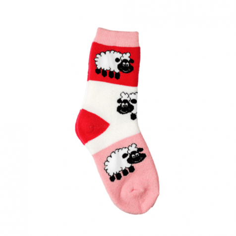 Pink childrens socks with sheep