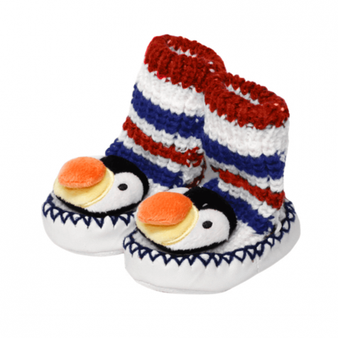 Puffin slipper socks for infants