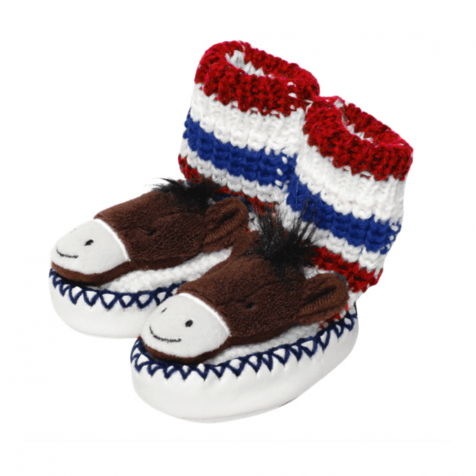 Horse slipper socks for infants