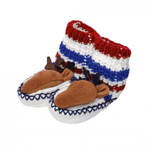 Reindeer slipper socks for infants