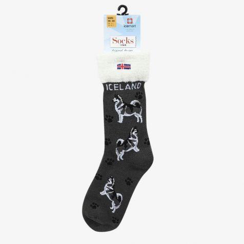 Socks with Icelandic sheep dog