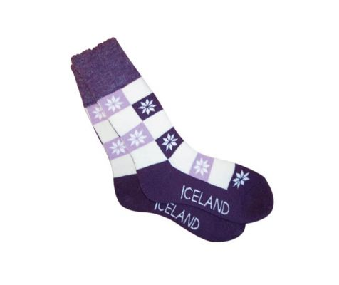 Socks with Iceland and snowflakes