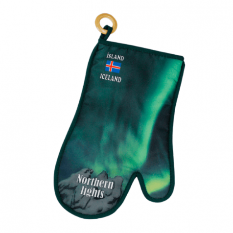 Oven glove with Nordic lights