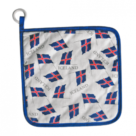 Potholder with Icelandic flags