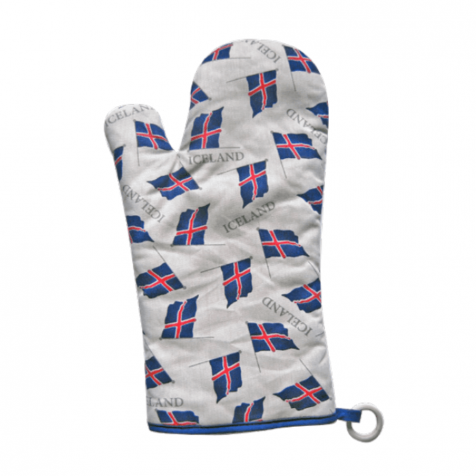Oven glove with flag of Iceland