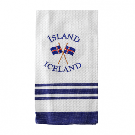 Dish towel with flag