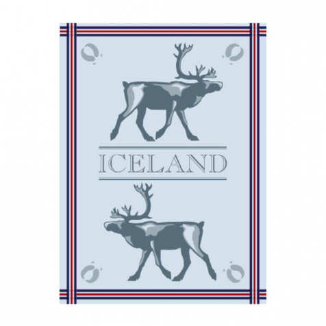 Dish towel with reindeer