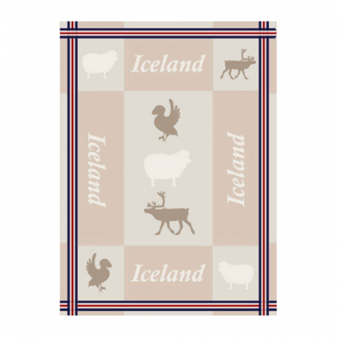 Dish towel with Icelandic animals