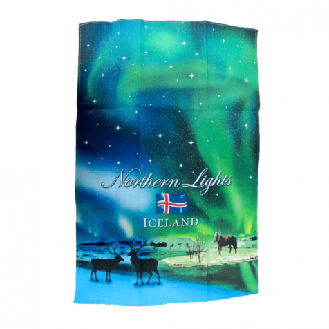 Dish towel with Nordic lights