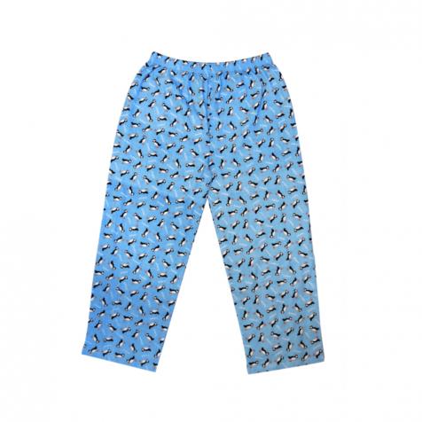 Pyjama pants with puffin pattern
