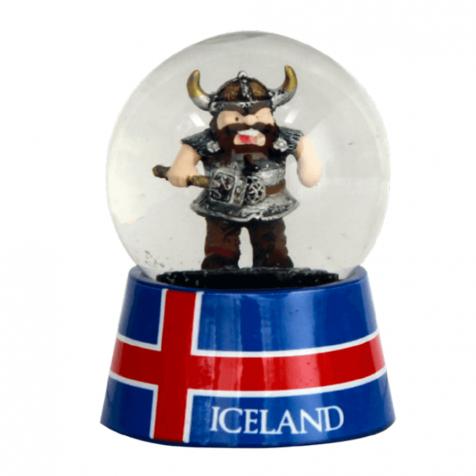 Snowglobe viking with hammer