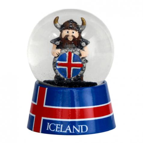 Snowglobe viking with shield