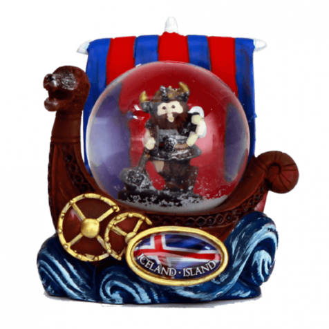 Snowglobe viking with drink
